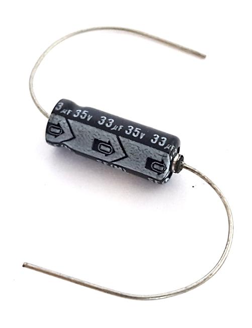 33uF 35V Axial Electrolytic Capacitor Vintage Nichicon®