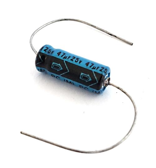 47uF 25V Axial Aluminum Electrolytic Capacitor Nichicon®