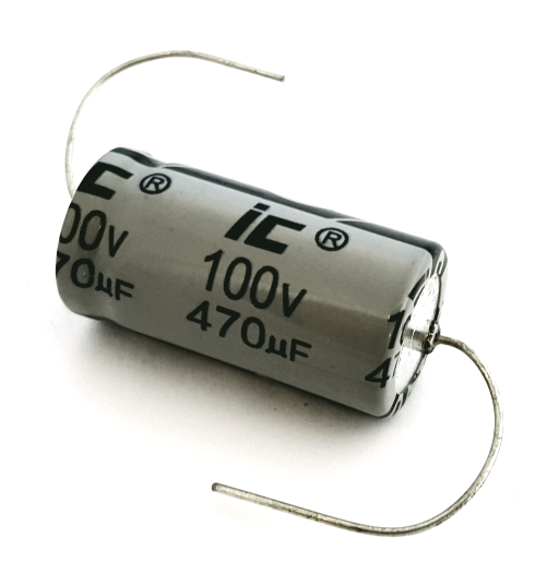 470uF 100V Axial Electrolytic Capacitor Illinois Capacitor® 477TTA100M