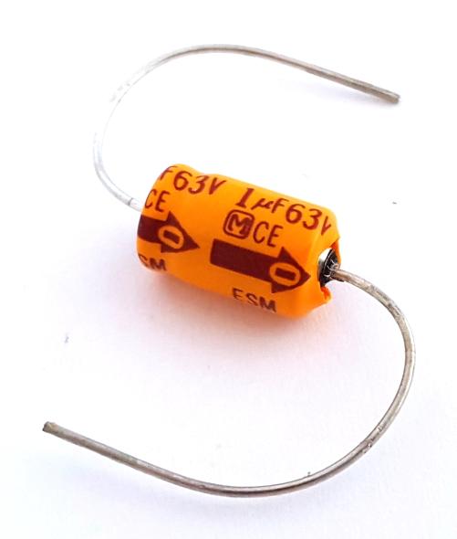 1uF  63V Axial Electrolytic Capacitor Panasonic® ECEB1JE010MA