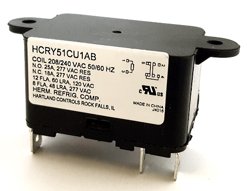 18A 208 / 240 VAC Switching Relay Hartland Controls® HCRY51CU1AB 90374