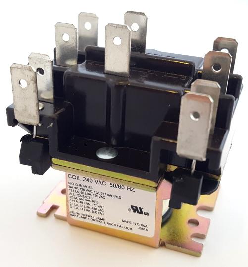 15A 208 / 240 VAC HVAC Fan Relay Hartland Controls® HCRY62CU1AA 90342