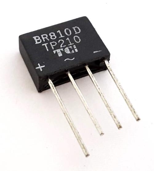 2A 1000V Bridge Rectifier Taitron® BR810D / TP210