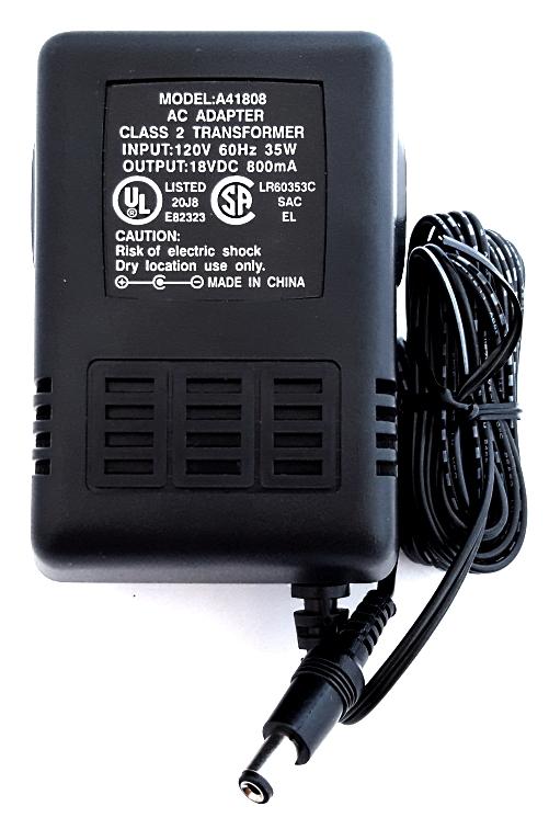 AC  Adapter Model A41808 Class 2 Transformer 120V 60Hz 35W