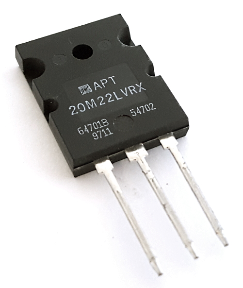 APT20M22LVR 100A 200V N-Channel MOSFET Transistor Microchip®