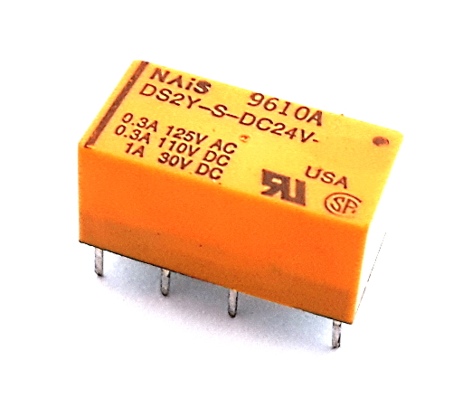 2A 24V Miniature Low Signal DPDT Relay NAIS® DS2Y-S-DC24V