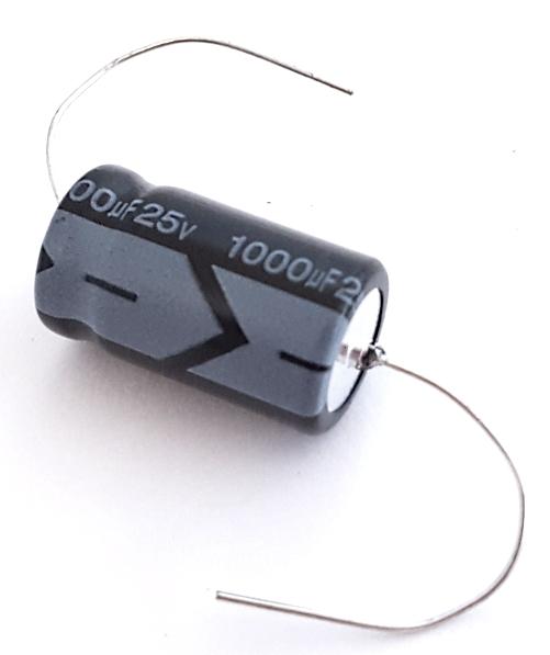 1000uF 25V Axial Electrolytic Capacitor M.D.L.® TEA-025M102