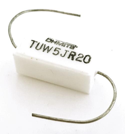 5W 0.2 ohm .2 ohm Wirewound Resistor Ceramic Cement TUW5JR20 Ohmite®