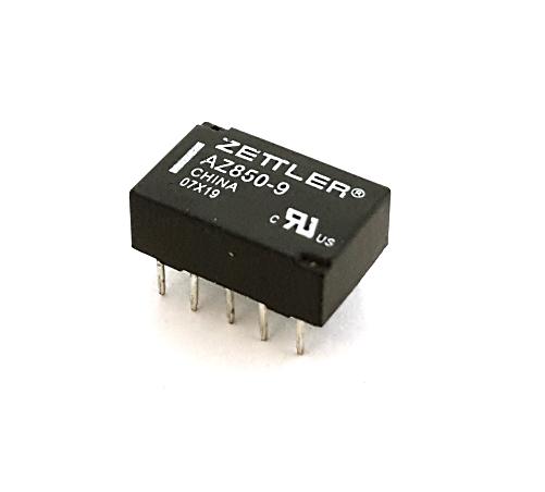 1A 9V DPDT Microminiature Relay American Zettler® AZ850-9