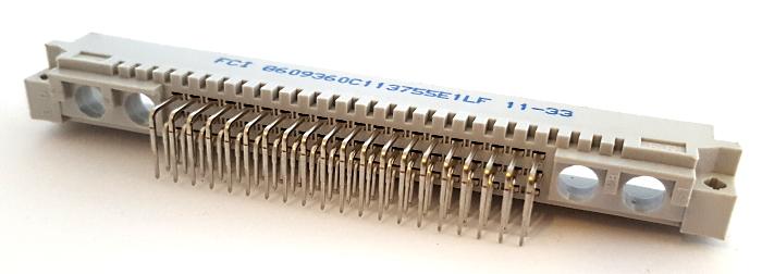 60 Position DIN Header Connector FCI® Amphenol® 8609360C113755E1LF