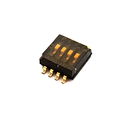 4 Position Ultra Miniature SMT DIP Switch C&K Components® TDA04H0SB1