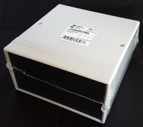 "ABS Plastic Enclosure Project Box Split Sides 6.3"" x 6.3"" x 3.4"" Hammond® 1598ESGYPBK"