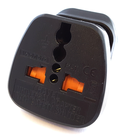 Power Adapter South Africa 15A 250V 3 Prong 1 Port PWR-1163 Teleadapt®