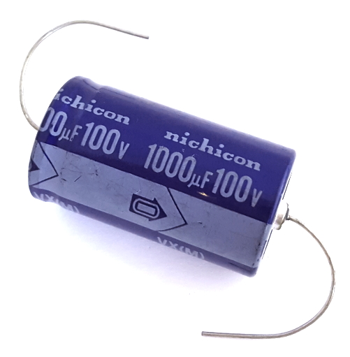 1000uF 100V Axial Electrolytic Capacitor Nichicon® TVX2A102M