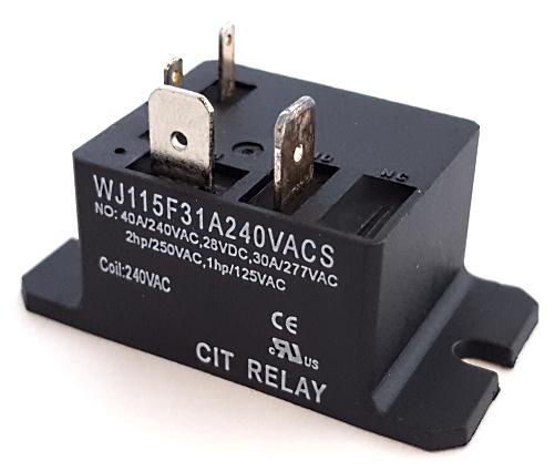 40A 240VAC Relay CIT® WJ115F31A240VACS