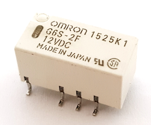 2.0A 12V Low Signal SMT PCB Mount Relay Omron® G6S-2F-12VDC