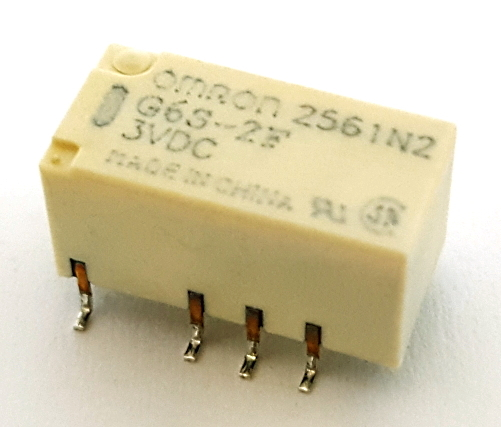 2A 3V Low Signal SMT Mount Relay Omron® G6S-2F-3VDC