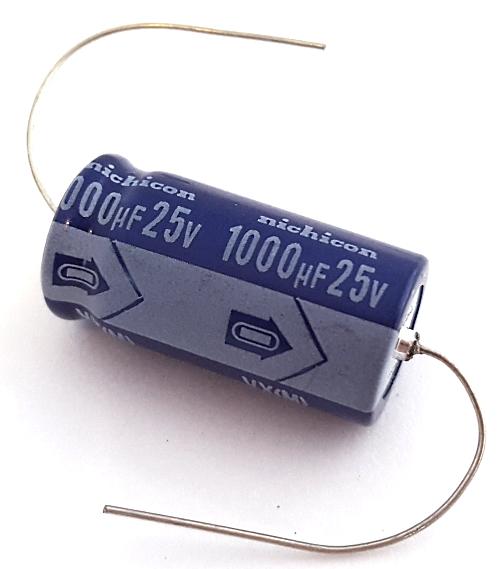 1000uF 25V Axial Electrolytic Capacitor Nichicon® TVX1E102M
