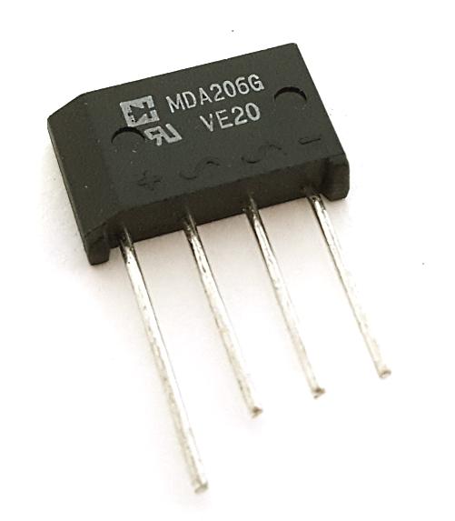 2A 600V Single Phase Bridge Rectifier Rectron® MDA206G