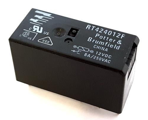 8A 12VDC 250VAC Power PCB Relay Potter & Brumfield® RT424012F