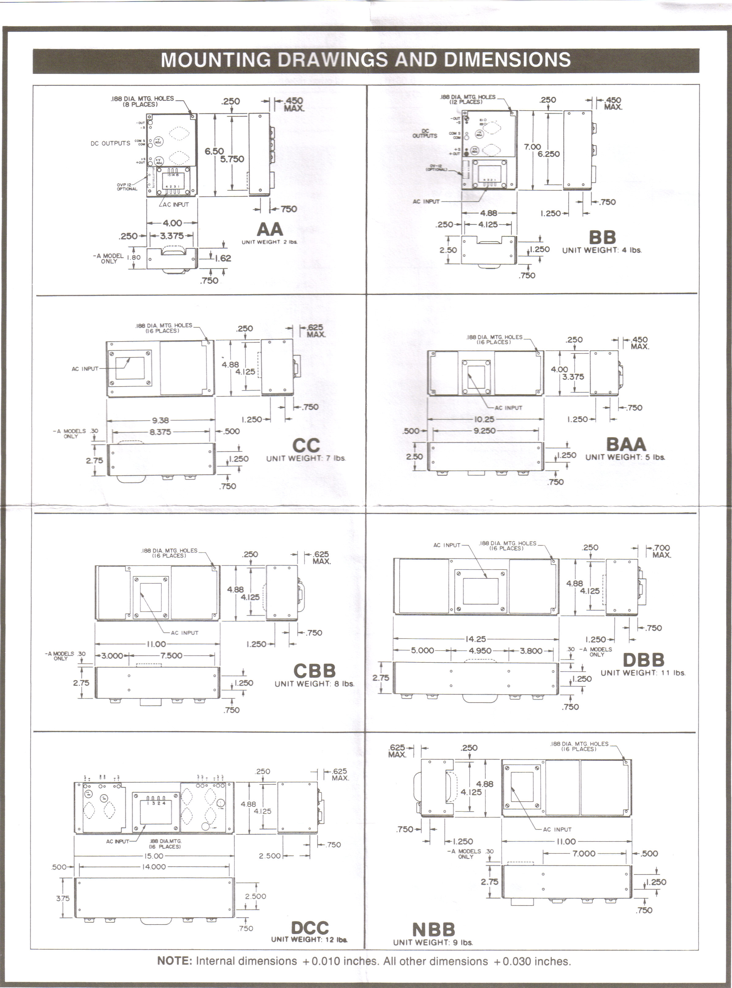B48 05 05a 48v Dc Power Supply Linear Open Frame West Florida 12to 16vdc Regulated Circuit Diagram Additional Information