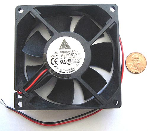 12VDC 0.24A .24A Fan 7 Blades Brushless AFB0812H