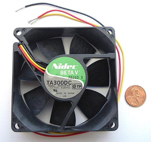 12VDC 0.29A .29A Fan 7 Blades NIDEC TA300DC