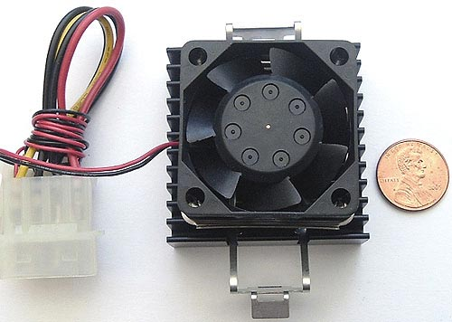 12VDC 0.11A .11A Fan With Heatsink and Compound 1606KL-04W-B50