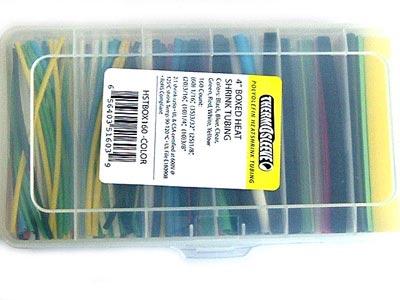Heat Shrink Assortment Polyolefin Heatshrink Kit - 160 Colored Pcs