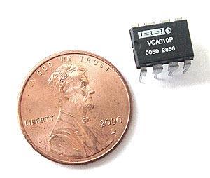 Op Amp  Texas Instruments®  VCA610P VCA610 P