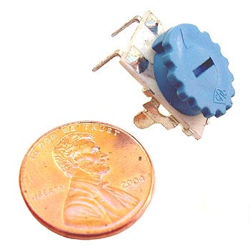 Thumbwheel Potentiometer  2.5K Single Turn POT