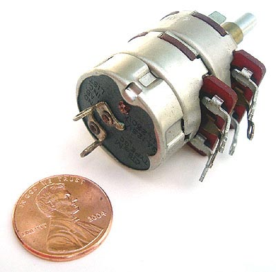 Dual Potentiometer 10K and 25K with SPST Switch CTS