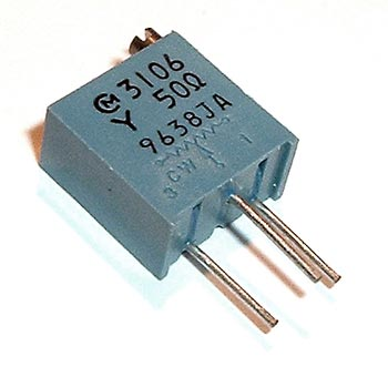 50 Ohm Trimmer Trim Pot Variable Resistor 3106y West Florida