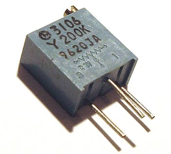200K ohm Trimmer Trim Pot Variable Resistor 3106Y