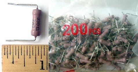 3W 330 ohm Metal Oxide Resistor