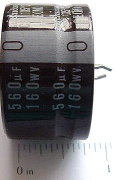 560uF 160V Radial Electrolytic Capacitors